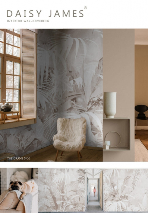 exclusive wallcover forest beige