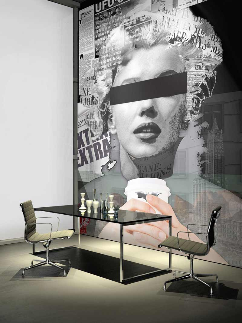 exclusive wallcover marilyn