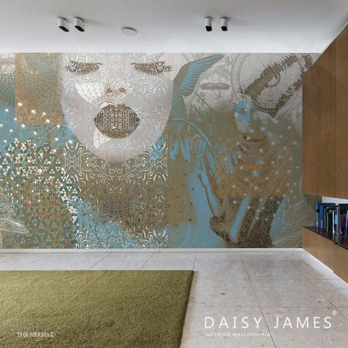 exclusive wallcover mermaid