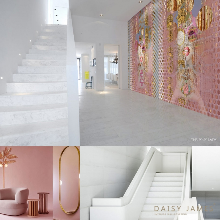 exclusive wallcover pink lady