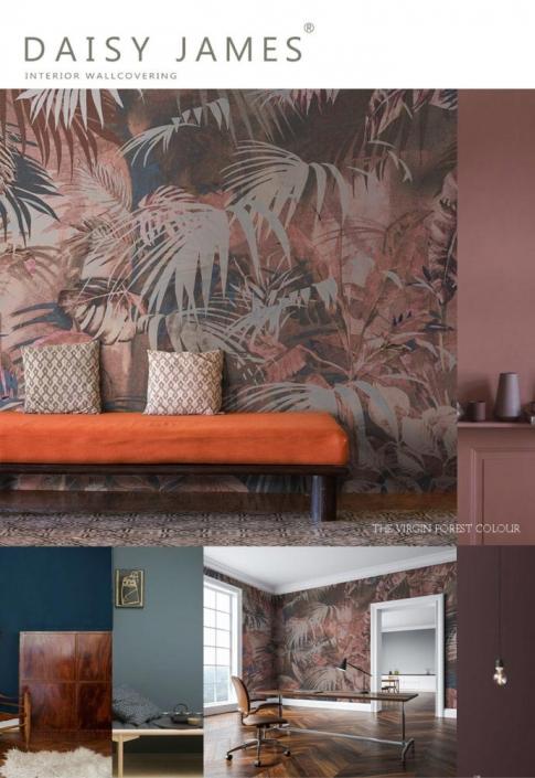 interior wallcovering virgen forest