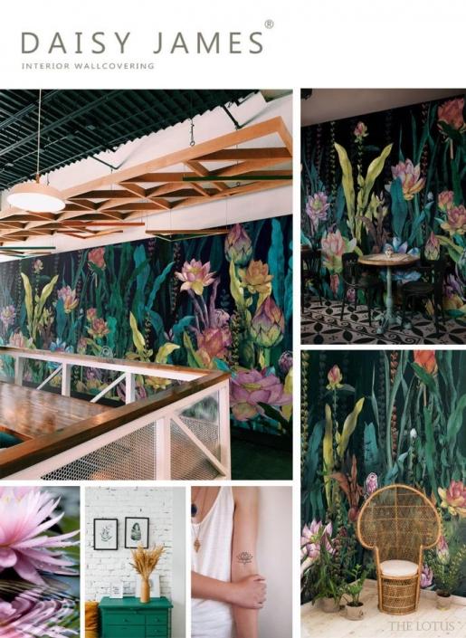 wallcover lotus daisyjames