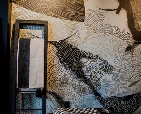 wallcovering nupuurgroen daisyjames